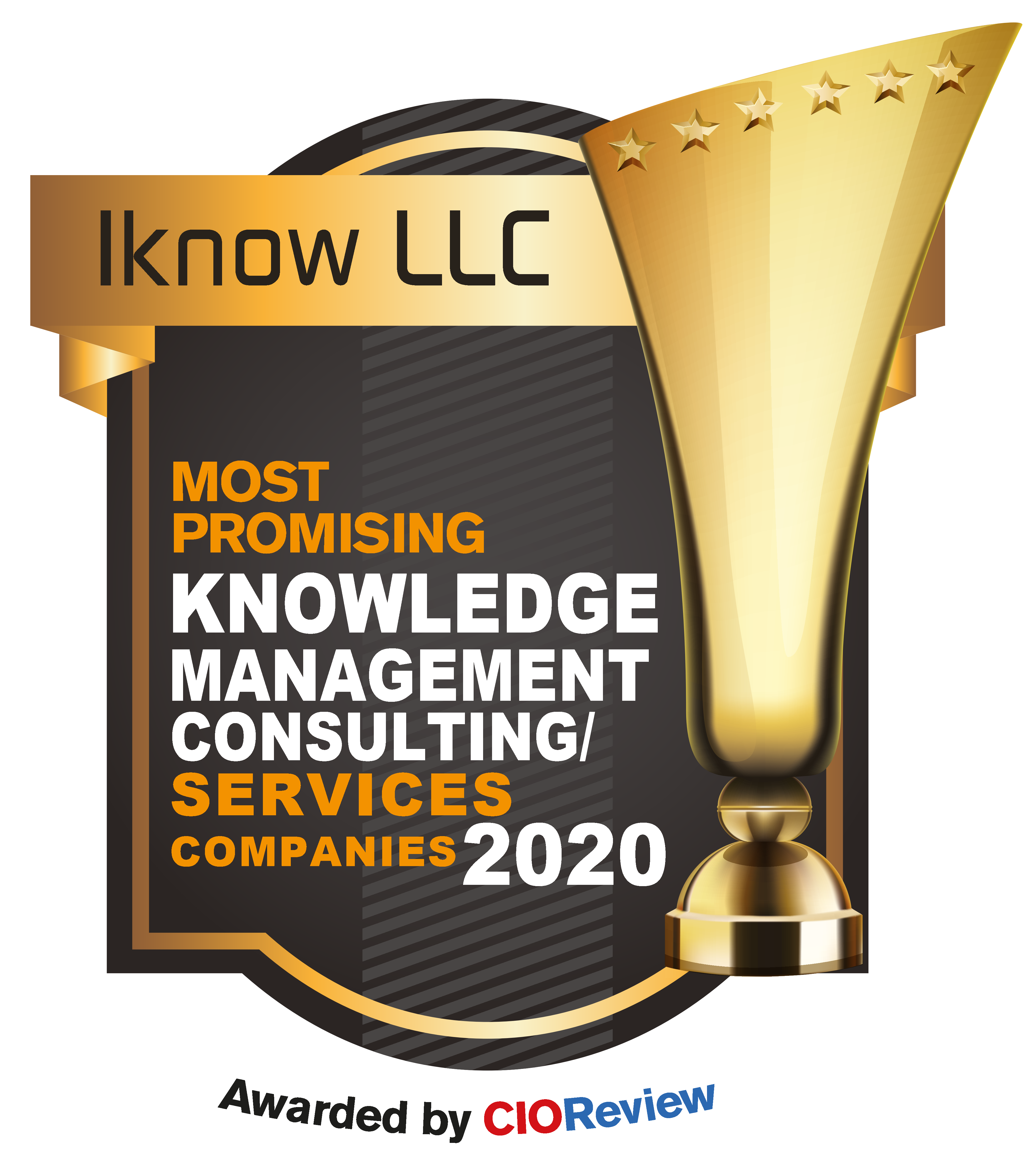 CIO Review Award Logo for Iknow LLC